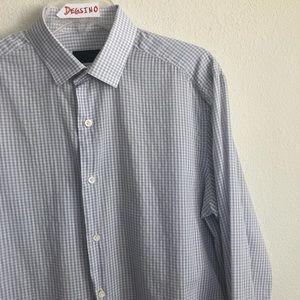 LANVIN button down long sleeve checks Shirt